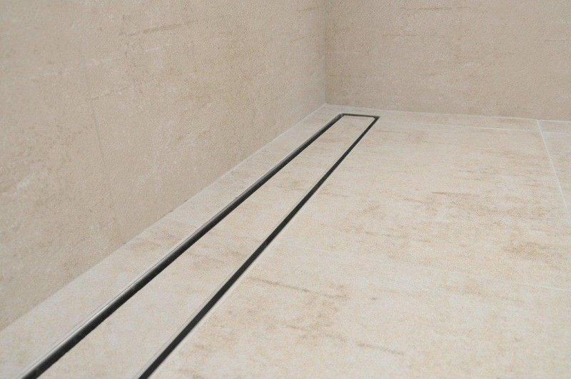 Tile Insert Linear Shower Drains With Vertical Outlet And