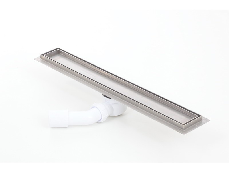 Tile insert linear shower drains with 500mm flange