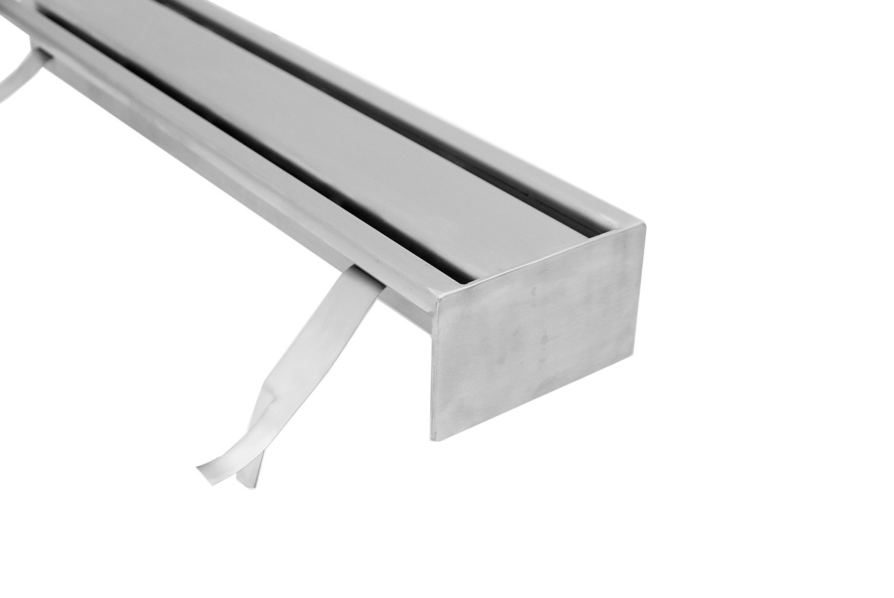 Stainless steel floor drains with 2 slit top S140-S500