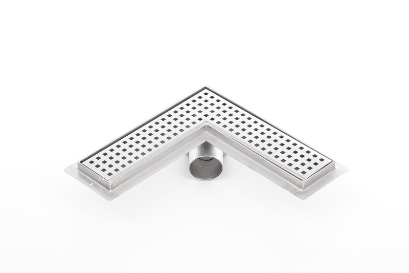 Corner stainless steel shower drains with 600mm flange