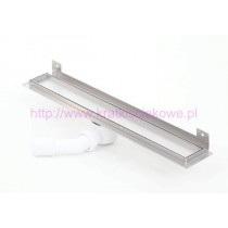 Tile insert linear WALL shower drains with curved flange 700mm