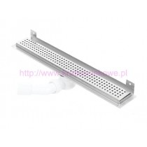 Linear stainless steel WALL shower drains with curved flange 600mm