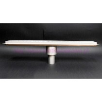 Linear stainless steel shower drains with vertical outlet and 500mm flange