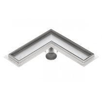 Corner stainless steel tile insert shower drains with 800mm flange