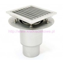 Stainless steel mini telescopic square floor gully 200x200 with vertical outlet