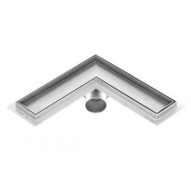 Corner stainless steel tile insert shower drains with 600mm flange