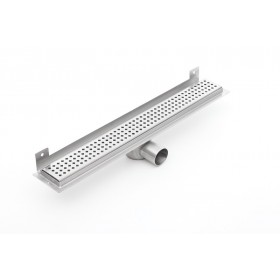 Linear stainless steel WALL shower drains with curved flange 1100mm