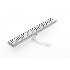 Linear  stainless steel shower drains with grate and 1100mm flange