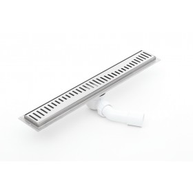 Linear  stainless steel shower drains with grate and 800mm flange