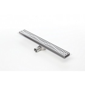 Linear stainless steel shower drains with grate and 1000mm flange