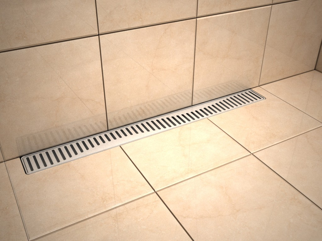 Linear Stainless Steel Shower Drains With Grate And 600mm