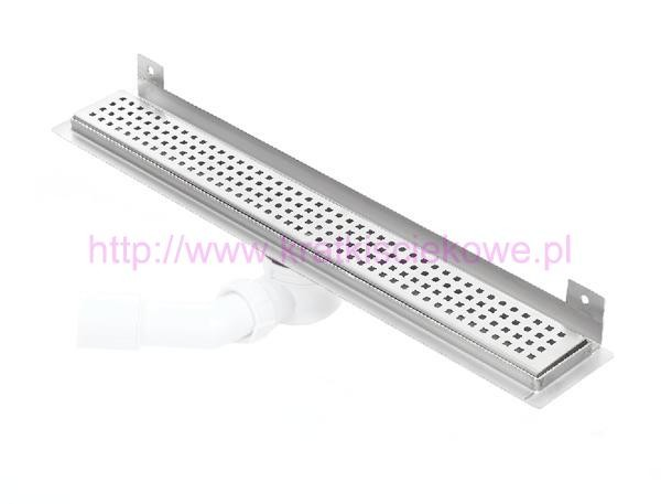 Linear stainless steel WALL shower drains with curved flange 1200mm