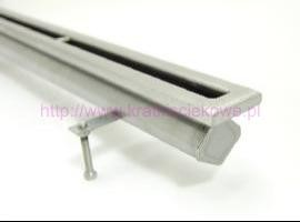 Stainless steel floor drains with 1 slit top - Call us for more info