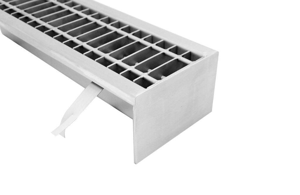 Stainless steel   industrial  floor drains with grate S140-S500