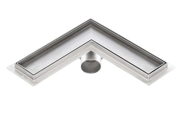 Corner stainless steel tile insert shower drains with 900mm flange