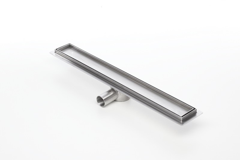Tile insert linear shower drains with 1200mm flange