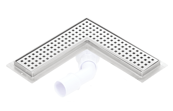 Corner stainless steel shower drains with 800mm flange