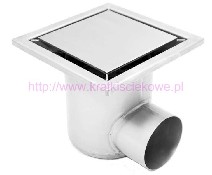 Stainless steel profi square floor gully 200x200 with side outlet KRB-200