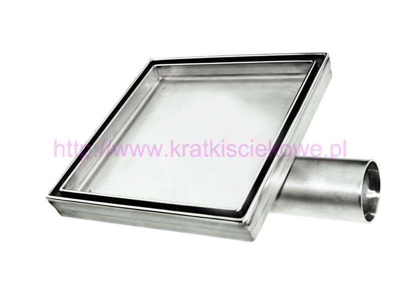 Stainless steel tile insert  square floor drains 100x100