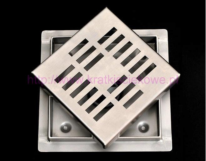 Stainless steel square floor drains 150x150