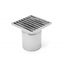Stainless steel square floor gully 150x150 with vertical outlet KSD-150