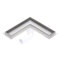 Corner stainless steel tile insert shower drains with 700mm flange