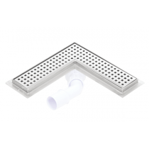 Corner stainless steel shower drains with 700mm flange