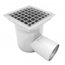 Stainless steel profi square floor gully 300x300 with side outlet KRB-300-160