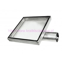 Stainless steel tile insert  square floor drains 100x100