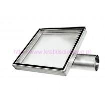 Stainless steel tile insert  square floor drains 200x200