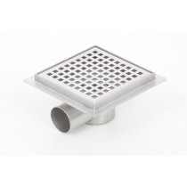 Stainless steel square floor shower drain 100x100