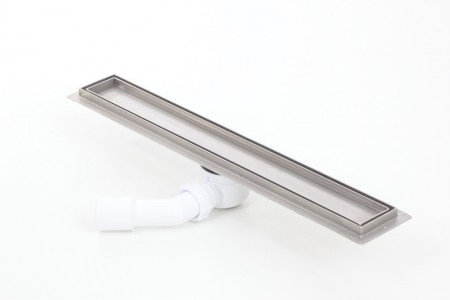 Tile insert linear shower drains with 600mm flange