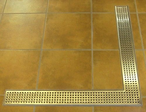 Corner stainless steel shower drains