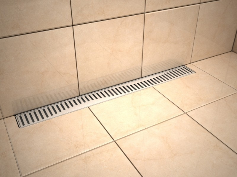 Linear stainless steel shower drains with grate